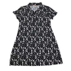 AA Studio Black and White Patterned Dress